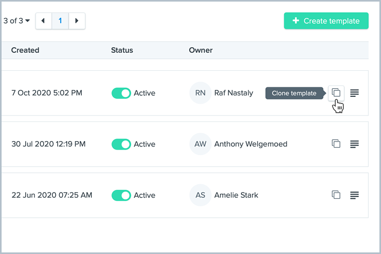 clone workflow template