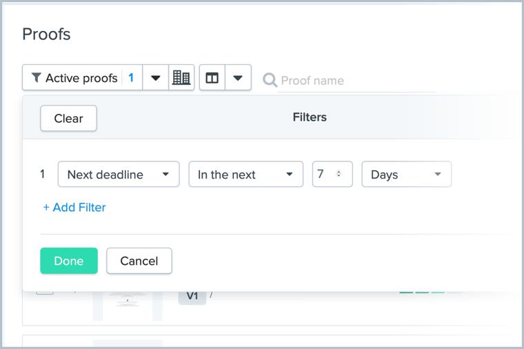filter by deadline