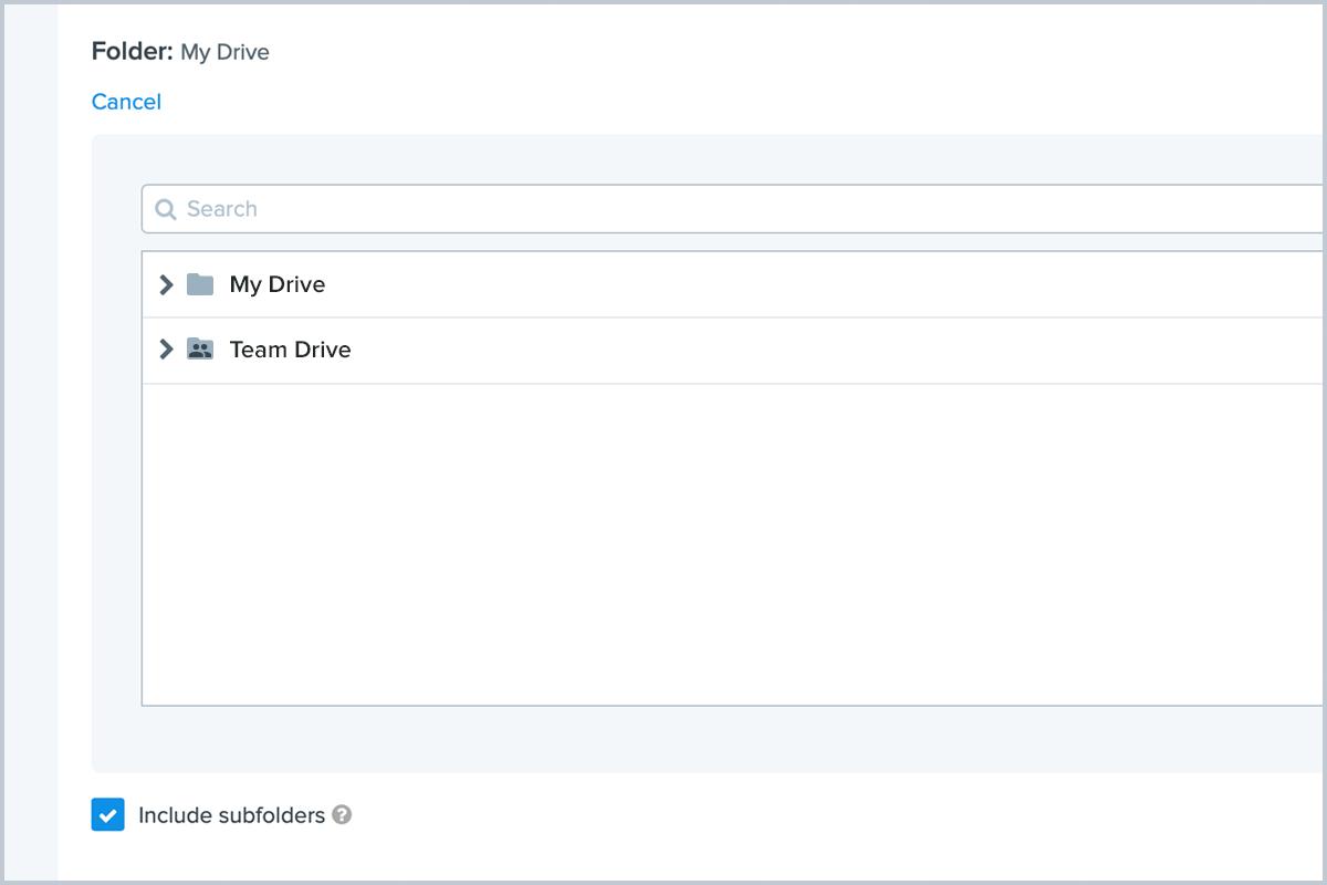 Google Drive Team Folder