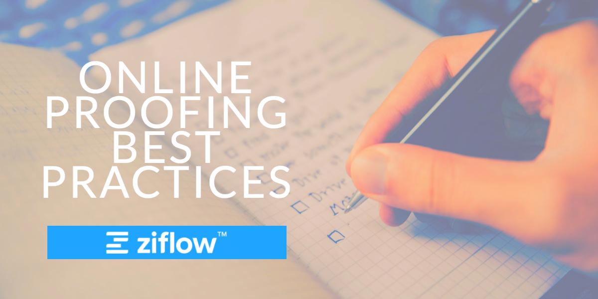 Online Proofing Best Practices