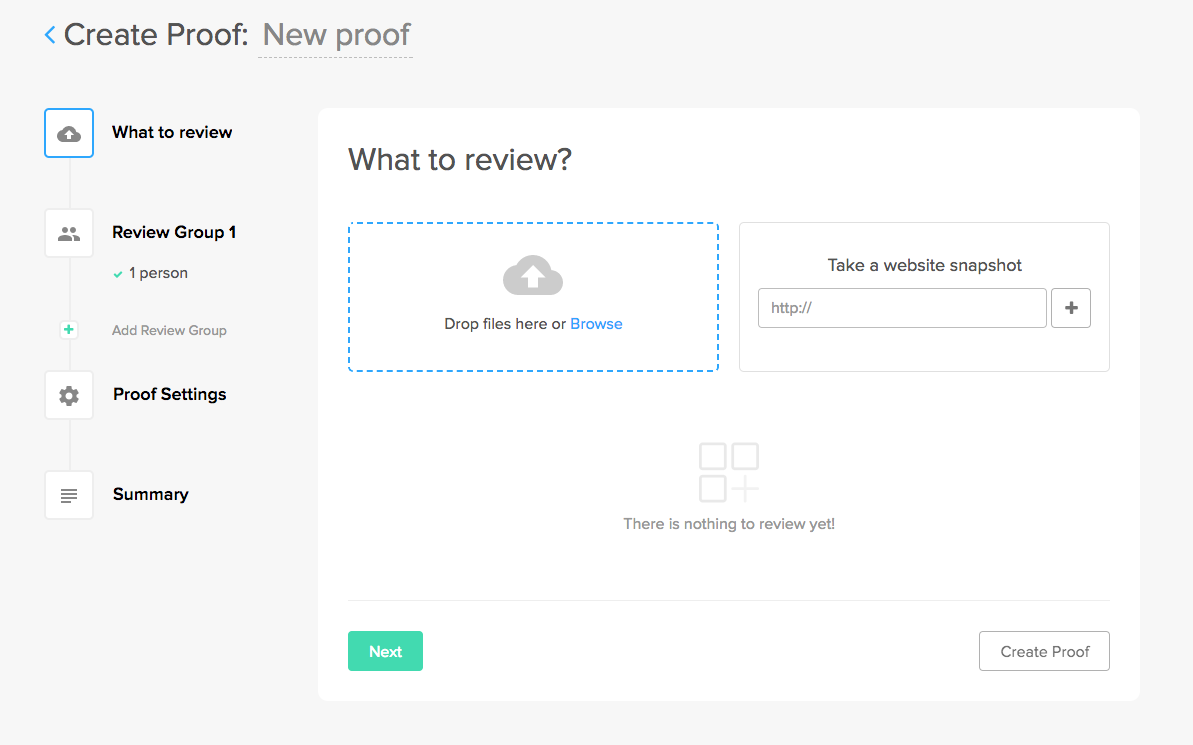 #ZiflowHowTo: Creating a New Proof in Ziflow