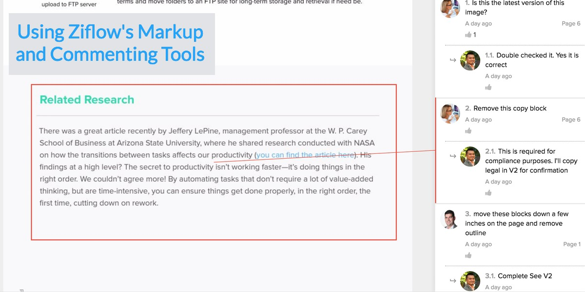 #ZiflowHowTo:Using Ziflow's Markup and Commenting Tools