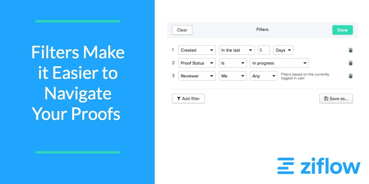 We're Making it Easier to Navigate Your Proof List