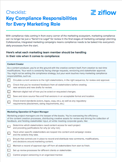 Checklist for Marketing Compliance