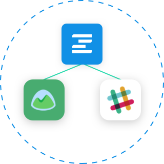Integrate easily with project management, collaboration and notification apps