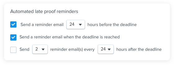 Online proofing notifications