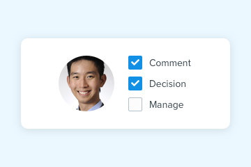 Decision tracking for your review and approval process
