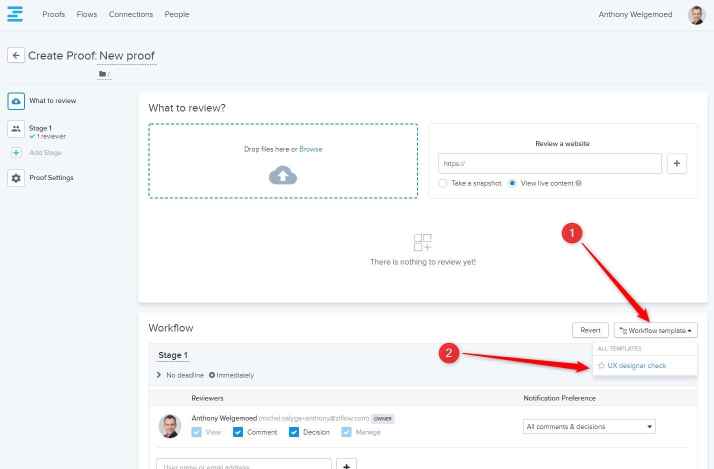 Configuring Workflow Templates Ziflow Help
